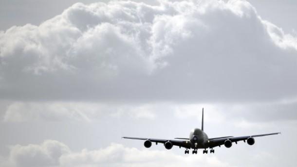 Riesen-Airbus zur Taufe in Frankfurt gelandet