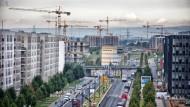 Subventionen für niedrige Mieten: Mit steuerlichen Anreizen wollen Union und SPD den Mietwohnungsbau wie hier im Frankfurter Europaviertel ankurbeln.