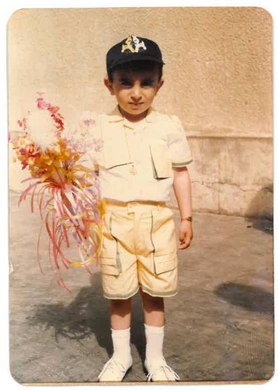 Vor 34 Jahren: Josef am Palmsonntag in seiner Geburtsstadt Kameshly in Syrien.