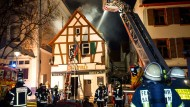 Fachwerkhaus zerstört: Halbe Million Euro Schaden