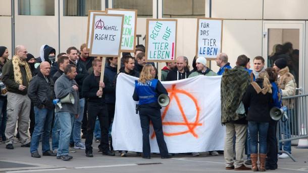 Protest mit positiven Schwingungen