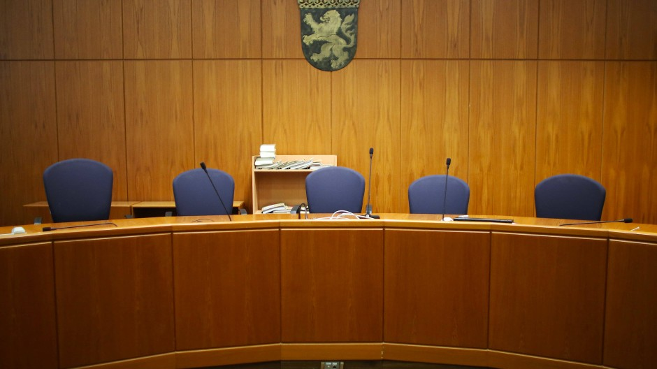 Ein Gerichtssaal am Frankfurter Landgericht