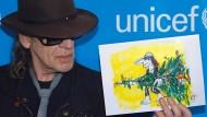 Herz für Kinder: Udo L. zeichnet für Unicef, sich selbst inklusive