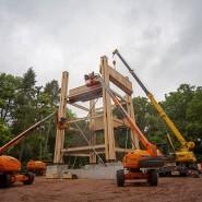 Aufbauarbeit: Der neue Goetheturm nimmt Formen an