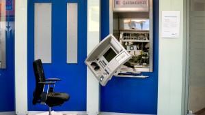 Immer mehr Geldautomaten werden gesprengt