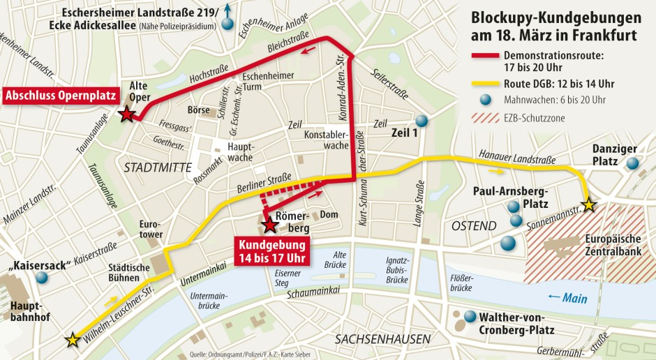 Oosten Frankfurt Karte.Ezb Eroffnung In Frankfurt Vorbereitung Auf Blockupy