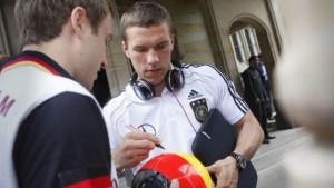 Frankfurt verabschiedet Fußball-Nationalelf mit Party