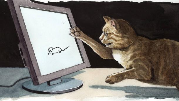 """""""Es hilft, wenn mal die Katze durchs Bild läuft"""""""