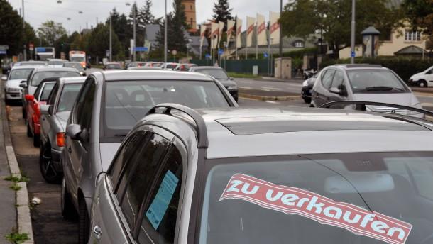 Privater Automarkt vor dem Aus