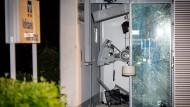 Zerstört: der gesprengte Geldautomat in Wiesbaden
