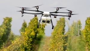 Drohnen und Roboter für einen guten Tropfen