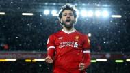 Liverpools Vierfachtorschütze Mohamed Salah.