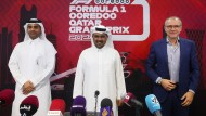 Scheich Mohammed bin Abdulla Al Thani, Abdulrahman Al Mannai und Stefano Domenicali in Qatar