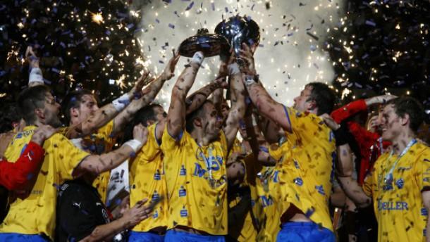 Ende der Feiern: Der Gewinn des EHF-Pokals im Sommer könnte für lange Zeit der letzte Erfolg des VfL Gummersbach bleiben