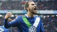 Wohl dem, der so einen Stürmer hat: Bas Dost trifft vier Mal in Leverkusen