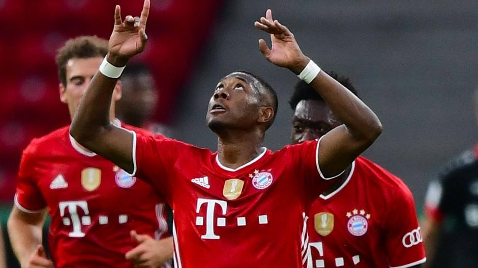 Zielsicher: David Alaba brachte die Bayern in Führung.