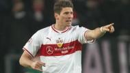 Gibt beim VfB die Richtung vor: Mario Gomez will die Stuttgarter aus dem Tabellenkeller führen.
