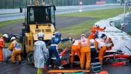 Beim Rennen in Japan kollidierte Jules Bianchi mit einem Bergungskran