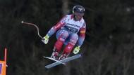 Sieger in Garmisch: Travis Ganong kommt schnell und heil im Ziel an