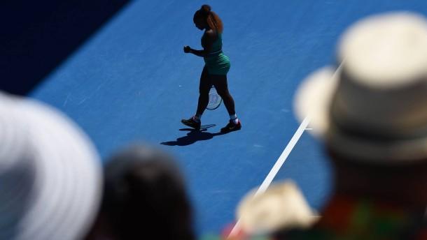 Serena Williams verletzt sich beim Matchball