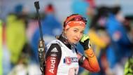 Niedergeschlagen: Startläuferin Luise Kummer