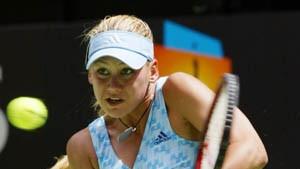 Der peinliche Abgang des Tennis-Models