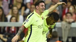 Kurze Pause für Messi und Neymar