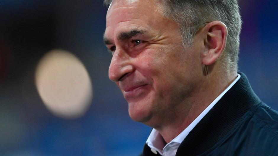 Gute Laune vor dem Halbfinale: U-21-Trainer Stefan Kuntz