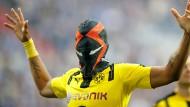 """""""Das ist meine eigene Maske"""": Pierre-Emerick Aubameyang."""