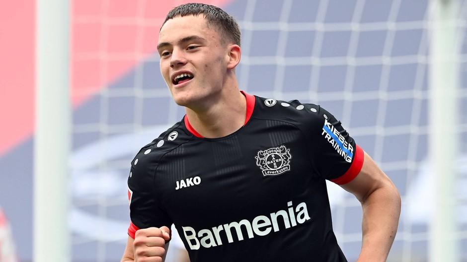 Als Torschütze erfolgreich: Leverkusens Florian Wirtz