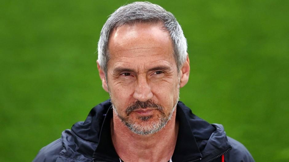 Adi Hütter, noch Trainer von Eintracht Frankfurt
