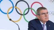 Fordernd: IOC-Präsident Thomas Bach