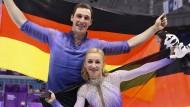 Wie lange bleiben sie noch ein Eiskunstlauf-Paar? Aljona Savchenko (vorne) und Bruno Massot.