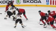 Im Aufschwung: Die deutschen Eishockey-Nationalmannschaft hat Selbstbewusstsein gesammelt