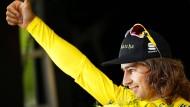 Lieblingsfarbe der Radfahrer: Peter Sagen in Gelb