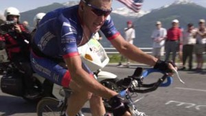 Lance Armstrong im Goldenen Trikot