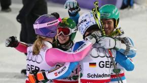 Das deutsche Team freute sich am Ende über Bronze