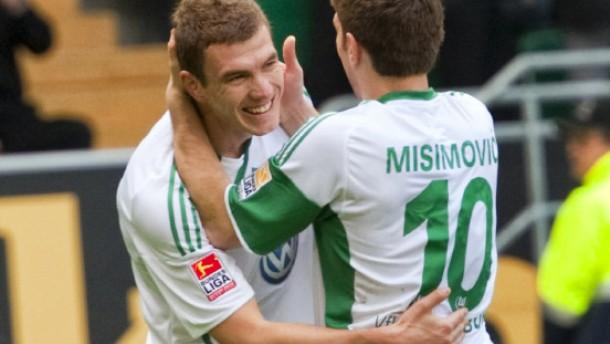 Dzekos Doppelpack lässt Wolfsburg hoffen