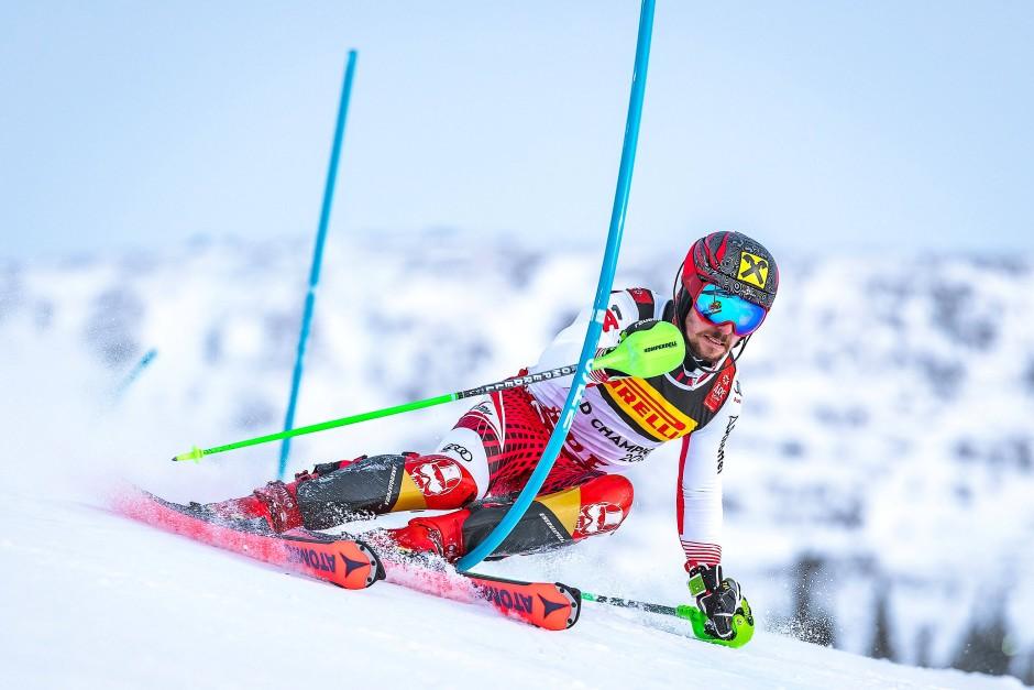 Traumlauf im ersten Durchgang: Marcel Hirscher gewinnt Slalom-Gold
