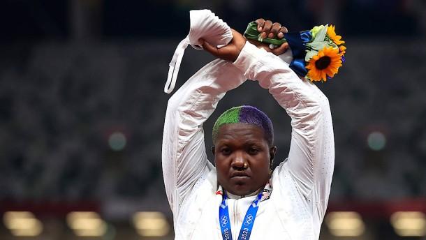 US-Sportlerin droht Strafe nach Protest