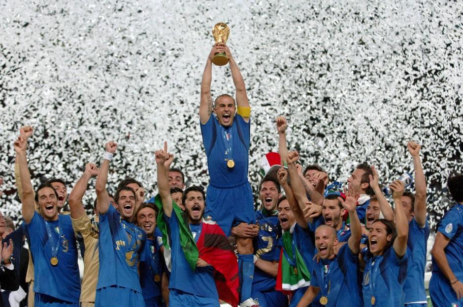Italien holte damals den WM-Pokal nach einem Sieg über Frankreich.
