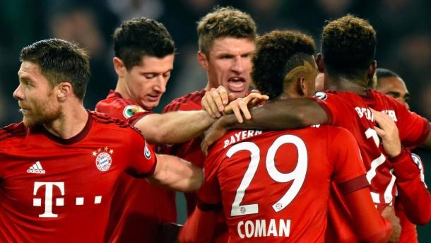 Die Bayern überrollen auch Wolfsburg