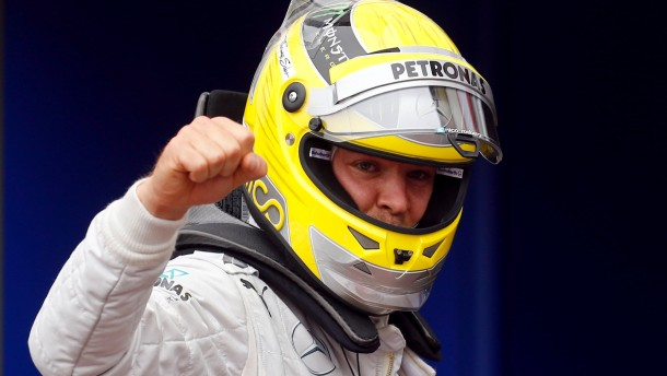 Mercedes Formula One driver Rosberg of Germany celebrates his pole position after the qualifying session of the Monaco F1 Grand Prix