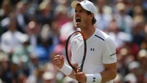 Die Tennis-Stars gehen am Stock