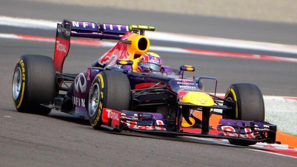 Vettel startet von der Pole Position