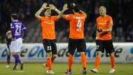 In holländischen Farben zum Sieg im Erzgebirge: Darmstadt siegt in in Aue