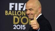 Grund zur Freude: Gianni Infantino darf sich über die DFB-Unterstützung freuen