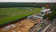 Turf wird zu Spielfeld: Auf der Rennbahn in Frankfurt-Niederrad könnte das DFB-Leistungszentrum entstehen