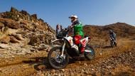 Gefährliches Wüstenrennen: Der Franzose Pierre Cherpin stirbt nach einem Sturz.