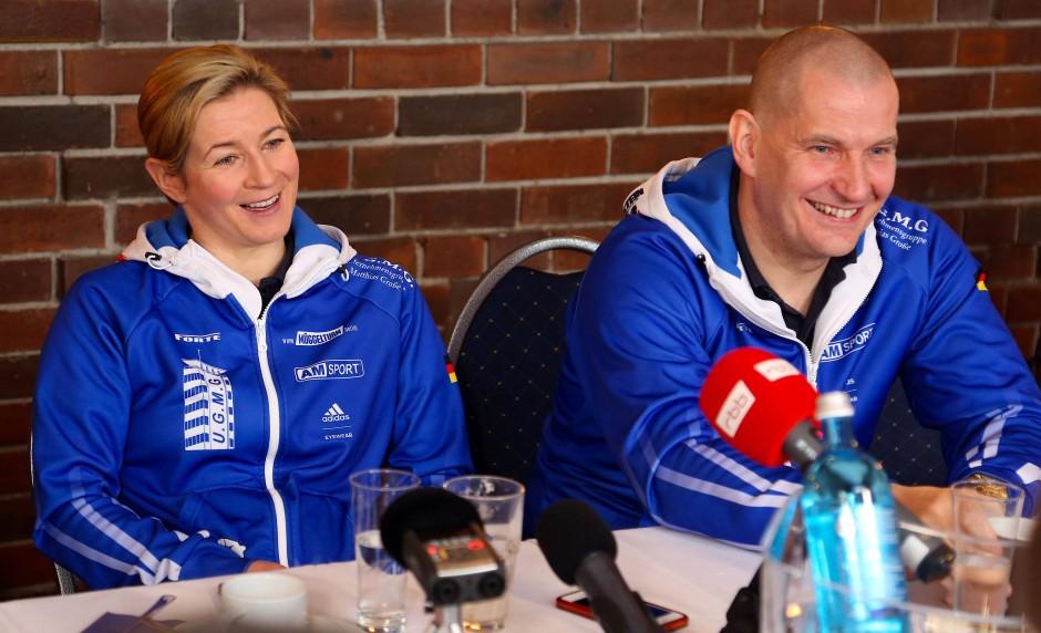 Gegen alle Widerstände: Claudia Pechstein und Matthias Große.